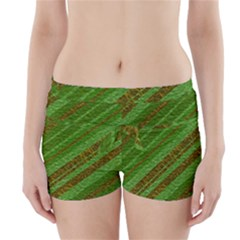 Stripes Course Texture Background Boyleg Bikini Wrap Bottoms