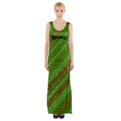 Stripes Course Texture Background Maxi Thigh Split Dress
