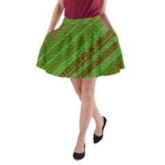 Stripes Course Texture Background A-Line Pocket Skirt