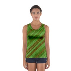 Stripes Course Texture Background Women s Sport Tank Top