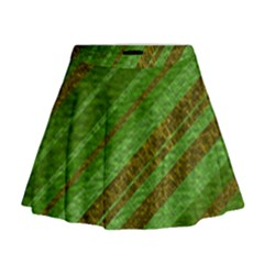 Stripes Course Texture Background Mini Flare Skirt
