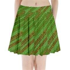 Stripes Course Texture Background Pleated Mini Skirt