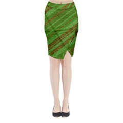 Stripes Course Texture Background Midi Wrap Pencil Skirt