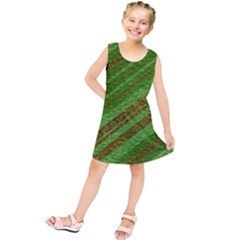 Stripes Course Texture Background Kids  Tunic Dress