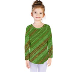 Stripes Course Texture Background Kids  Long Sleeve Tee