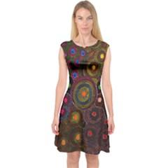 SDA1622 Capsleeve Midi Dress