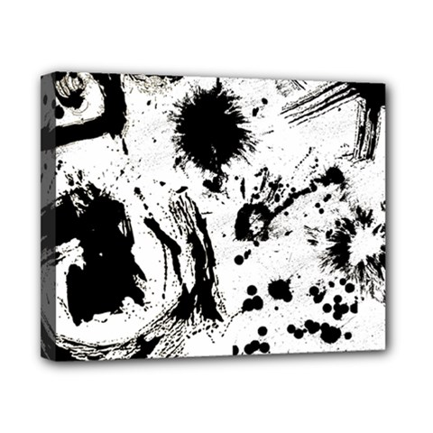 Pattern Color Painting Dab Black Canvas 10  x 8