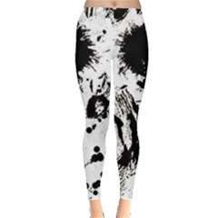 Pattern Color Painting Dab Black Leggings