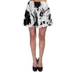 Pattern Color Painting Dab Black Skater Skirt