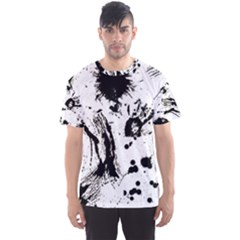 Pattern Color Painting Dab Black Men s Sport Mesh Tee