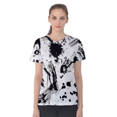 Pattern Color Painting Dab Black Women s Cotton Tee