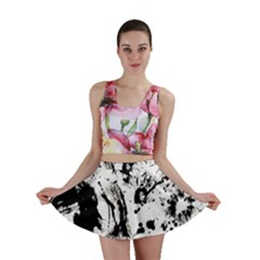 Pattern Color Painting Dab Black Mini Skirt