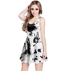 Pattern Color Painting Dab Black Reversible Sleeveless Dress