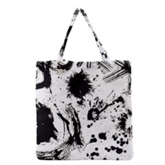 Pattern Color Painting Dab Black Grocery Tote Bag