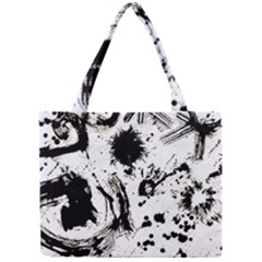 Pattern Color Painting Dab Black Mini Tote Bag