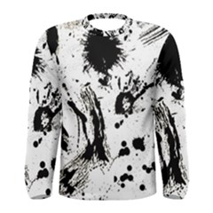 Pattern Color Painting Dab Black Men s Long Sleeve Tee