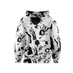 Pattern Color Painting Dab Black Kids  Pullover Hoodie