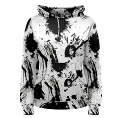 Pattern Color Painting Dab Black Women s Pullover Hoodie