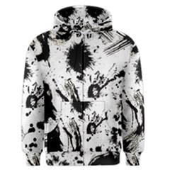Pattern Color Painting Dab Black Men s Zipper Hoodie