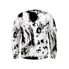 Pattern Color Painting Dab Black Kids  Sweatshirt