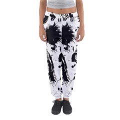 Pattern Color Painting Dab Black Women s Jogger Sweatpants