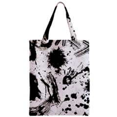 Pattern Color Painting Dab Black Zipper Classic Tote Bag
