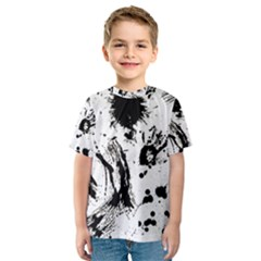 Pattern Color Painting Dab Black Kids  Sport Mesh Tee