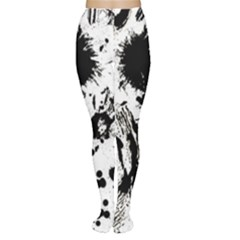 Pattern Color Painting Dab Black Women s Tights