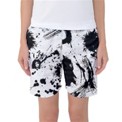Pattern Color Painting Dab Black Women s Basketball Shorts