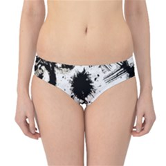 Pattern Color Painting Dab Black Hipster Bikini Bottoms