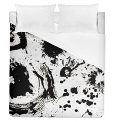 Pattern Color Painting Dab Black Duvet Cover (Queen Size)