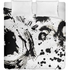 Pattern Color Painting Dab Black Duvet Cover Double Side (King Size)