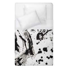Pattern Color Painting Dab Black Duvet Cover (Single Size)
