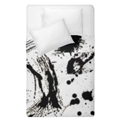 Pattern Color Painting Dab Black Duvet Cover Double Side (Single Size)