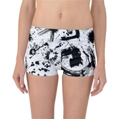Pattern Color Painting Dab Black Reversible Bikini Bottoms