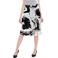 Pattern Color Painting Dab Black Midi Beach Skirt
