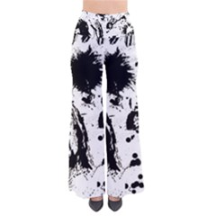Pattern Color Painting Dab Black Pants