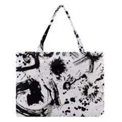Pattern Color Painting Dab Black Medium Tote Bag