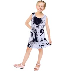 Pattern Color Painting Dab Black Kids  Tunic Dress