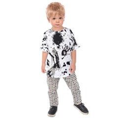 Pattern Color Painting Dab Black Kids  Raglan Tee