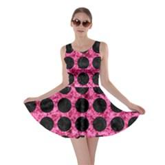 CIR1 BK-PK MARBLE (R) Skater Dress