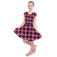 CIR1 BK-PK MARBLE (R) Kids  Short Sleeve Dress