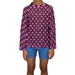 CIR3 BK-PK MARBLE (R) Kids  Long Sleeve Swimwear