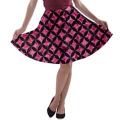 CIR3 BK-PK MARBLE (R) A-line Skater Skirt