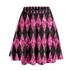 DIA1 BK-PK MARBLE High Waist Skirt