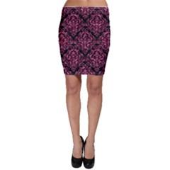 DMS1 BK-PK MARBLE Bodycon Skirt