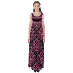 DMS1 BK-PK MARBLE Empire Waist Maxi Dress