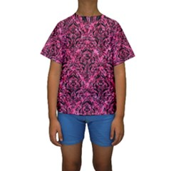 DMS1 BK-PK MARBLE (R) Kids  Short Sleeve Swimwear