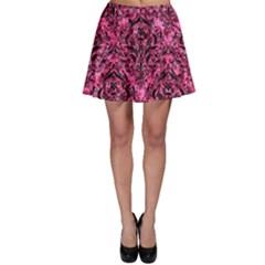 DMS1 BK-PK MARBLE (R) Skater Skirt