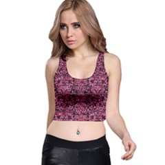 DMS2 BK-PK MARBLE Racer Back Crop Top